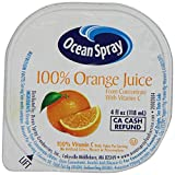 Ocean Spray 100% Orange Juice, 4 Ounce Cup (Pack of 48)