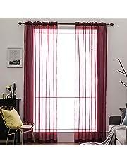 MIULEE Voile Tende Trasparenti con Passanti Tenda per Finestra per Soggiorno e Camera da Letto 2 Pannelli