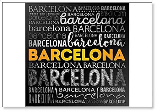 Imán para nevera, diseño de Barcelona Word Cloud, ilustración ...