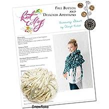 Knitting Kit: Bulky Fringe Shawl from Knit Collage (Snowflake)