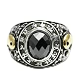 Beydodo Mens Silver Ring, Two Dragon Taichi Ring Size 8 Silver Ring for Men Hip Hop