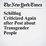 Schilling Criticized Again after Post about Transgender People | Daniel Victor