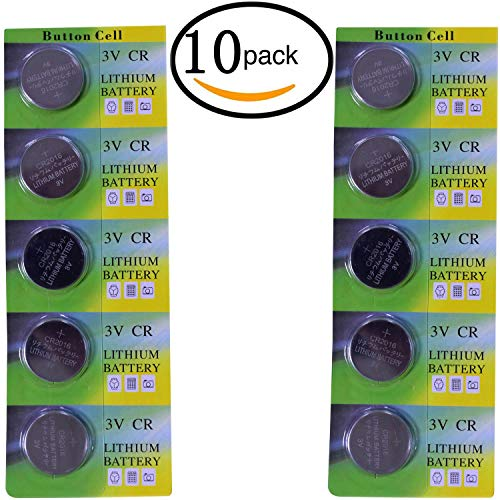 (CR2016 Lithium 3V Coin Cell Battery CR 2016 Batteries 3 Volt Button Cell Lithium for Toys Calculators Watches Used in Most Electronic Devices (10 Pack))