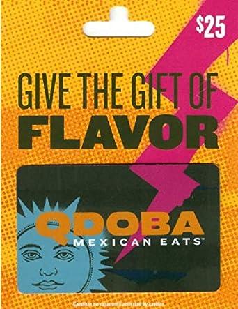 Amazon.com: Qdoba - Tarjeta de regalo para parrilla mexicana ...