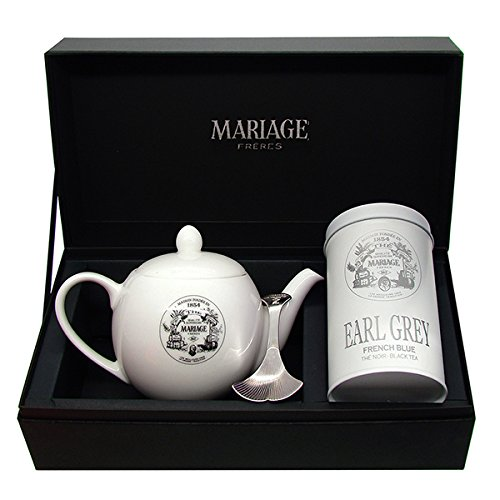 Mariage Frères - «DEGUSTATEUR» tea gift set EARL GREY FRENCH BLUE BLACK TEA and TEAPOT®