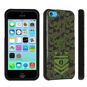 DuroCase ? Apple iPhone 5c Hard Case Black - (Army Camo Monogram Q)