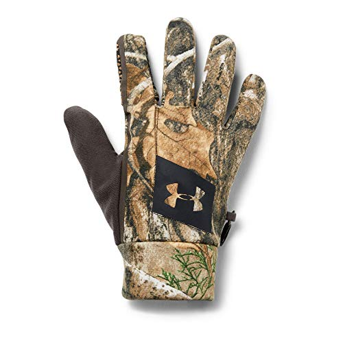 Under Armour Men's Hunt Early Season Fleece Glove, Real Tree Edge (991)/Black, Small/Medium (Mitt Fleece Armour Under)