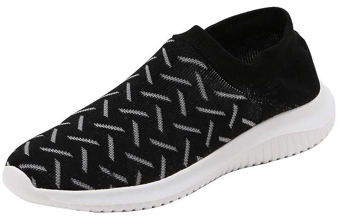 1bf921250 SimpleC Women s Unisex Transpirable Gimnasio Caminando Correr Entrenador  Ligero Slip-on Pareja Calcetines Zapatos Sneaker Shoes