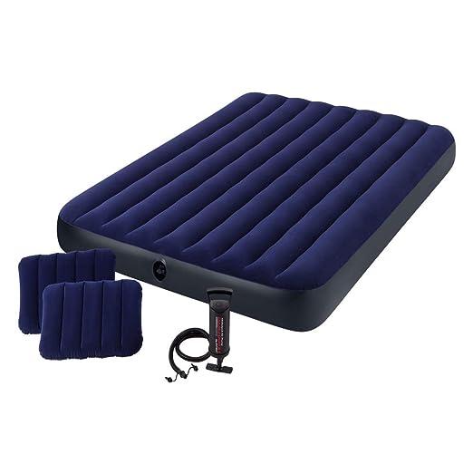 Intex 68765 - Colchón hinchable con 2 almohadas y bomba 152 x 203 x 22 cm