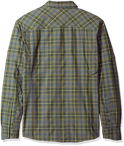 Ridge Gravel Shirt Columbia Men's Silver Plaid Long Plaid Sleeve 7zFpq