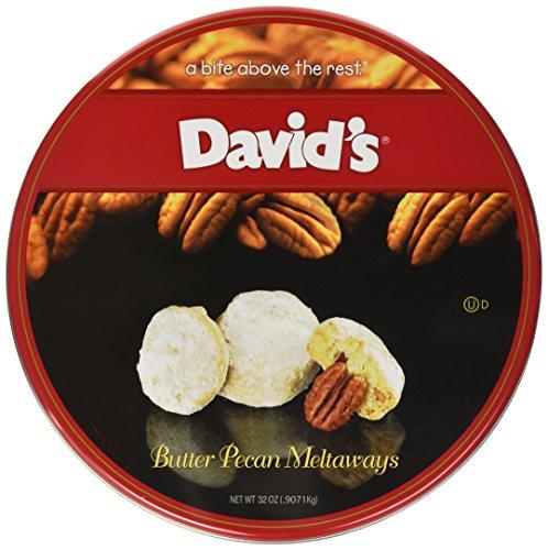 David's Cookies Butter Pecan Melt Ways, 32 oz. (Holiday Cookie Gift Baskets)