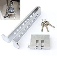Stainless Steel 8 Holes Clutch Lock Car Brake Lock Car Pedal Lock Anti-theft Device