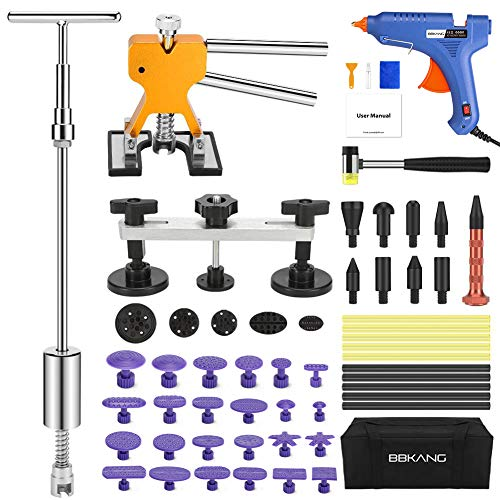 BBKANG Paintless Dent Repair Tools - Car Dent Removal Kit Golden Dent Lifter Bridge Dent Puller Kit Pop a Dent Tool for Auto Dent Door Ding Hail Dent Remover (Best Car Dent Removal Tool)
