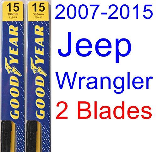 2007-2014 Jeep Wrangler Replacement Wiper Blade Set/Kit (Set of 2 Blades) (2008,2009,2010,2011,2012,2013)