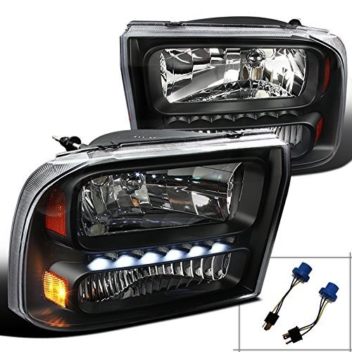 Spec-D Tuning 2LH-F250991PCJM-RS Black Headlight (1 Piece Euro With (F350 Euro Headlights)