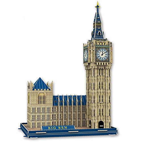 NimNik Big Ben 3D Puzzles for Kids Educational Fun Construction 3d Jigsaw Puzzle for Adults, Boys, Girls and Teenagers. Perfect Gift Ideas - 77 pieces.