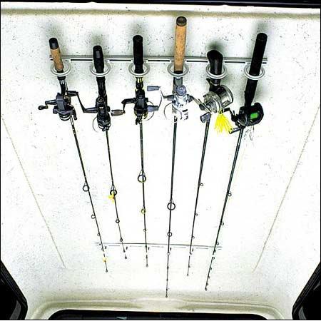 DU-BRO Fishing Trac-A-Rod Storage System, 2-Feet, Silver/White, Outdoor Stuffs
