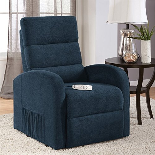 Hawthorne Collections Comfort Lift Recliner in Navy Blue