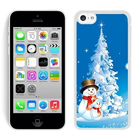 Iphone 5C Case,5C cases,Christmas snowman Iphone 5C Case White Cover (Cheap Speck Case For Iphone 5c)