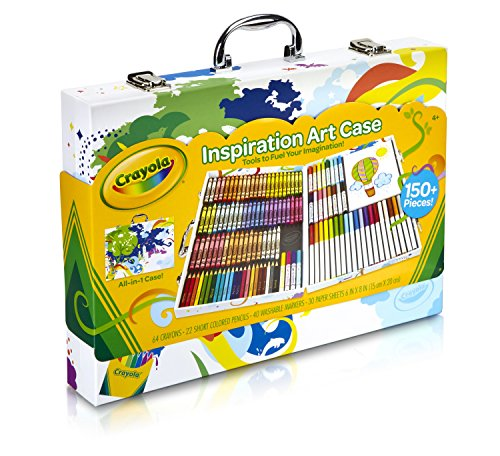 Crayola Inspiration Art Case: Art Tools, 140 Pieces, Crayons, Colored Pencils, Washable Markers, Paper, Portable Storage