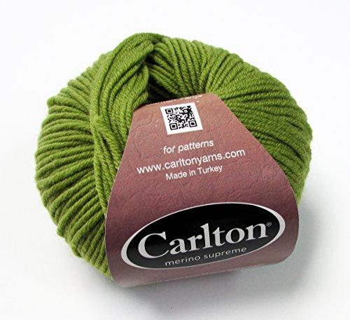 DK Superwash Merino Supreme by Carlton Yarns (1 Skein, Moss #14) Superwash Merino Wool Yarn