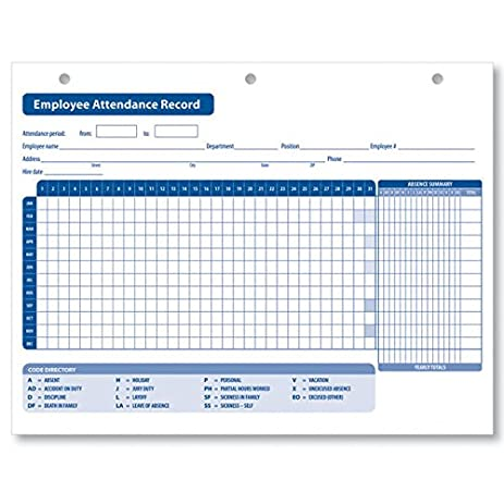 amazon com complyright employee attendance record office products