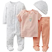 Carter's Baby Girls' 4 Piece Layette Set (Baby) - White - Pink - 3 Months