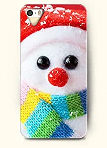 OOFIT Phone Case Design with Lovely cute Little Snowman for Apple iPhone 5 5s 5g