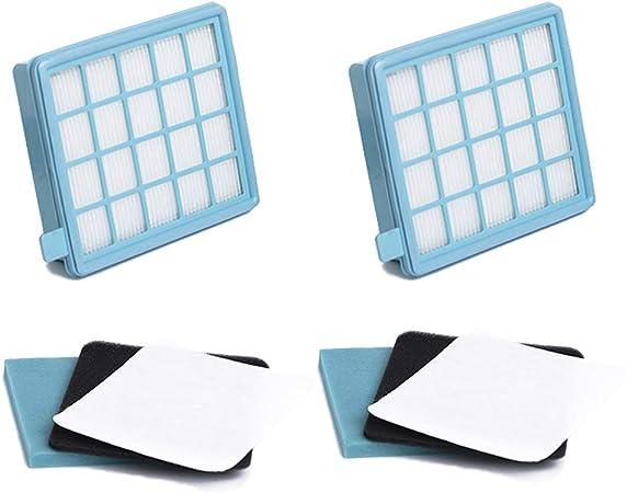 Filter Set kompatibel zu FC8058//01 Philips PowerPro Compact und PowerPro Active