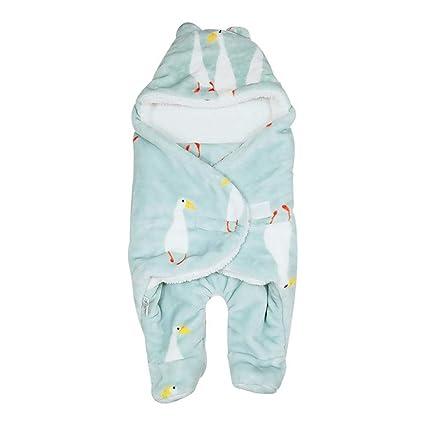 myonly - Manta para bebé recién Nacido, Saco de Dormir de Franela con Patas separadas