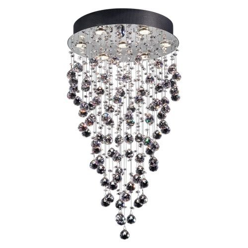 Lite Source EL-10070 Girolamo Crystal Ceiling Lamp, Chrome with Crystals