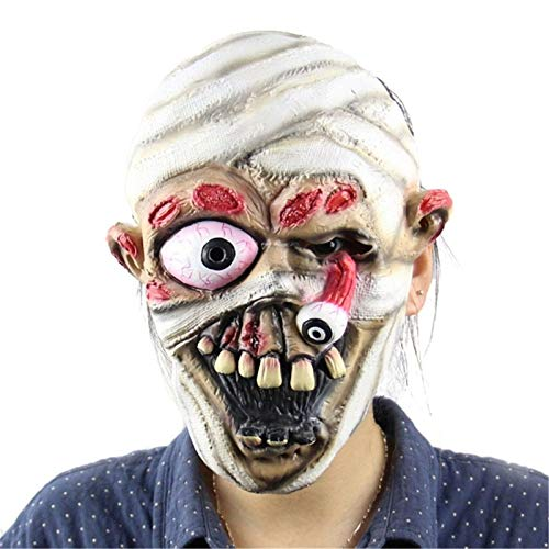 Mask Rubber - Incident Mask Terrible Face Zombie Evil Figures Halloween Horror Witch Full Latex Festival Party - Liners Kink Trump Human Women Costume Hair Sealer Scary Display Lizard Mask ()