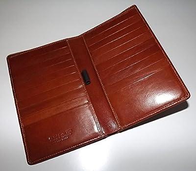 Giudi Italia Men's Tuscan Leather Breast Pocket Secretary Travel Wallet Cognac