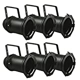 6x Black PAR 56 Lighting CAN Stage Theatre PAR56 Light