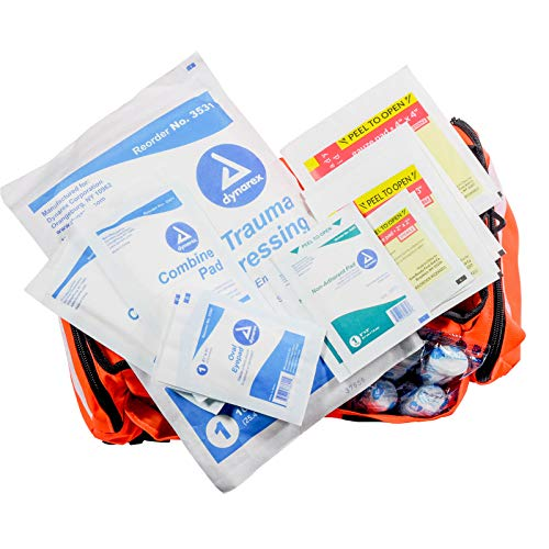a5698c1f8d4b Amazon.com  MFASCO - First Aid Kit - Complete Emergency Response Trauma Bag  - for Natural Disasters - Orange  Industrial   Scientific