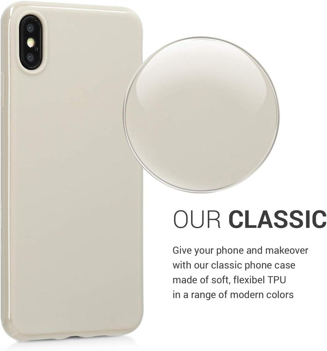 kwmobile Funda para Apple iPhone XS MAX Protector Trasero en Morado Mate Carcasa para m/óvil en TPU Silicona