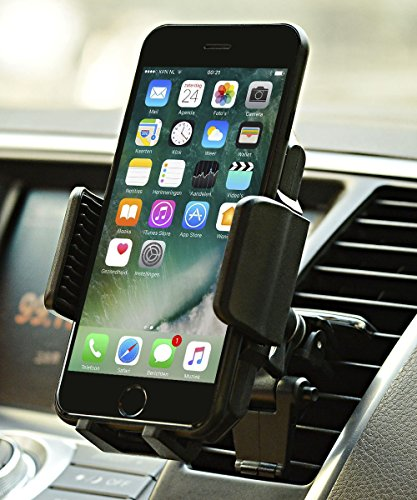 Car Mount, JAMRON Twist-lock Air Vent Car Mount Holder with Quick Release Button and Kickstand for iPhone X/8 8 Plus/ 7 7 Plus/ 6s Plus/6s/6,Samsung Lg Sony and Other Android Phones - Kickstand Mount