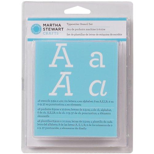 Martha Stewart Crafts Alphabet Stencil, 32272 Typewriter