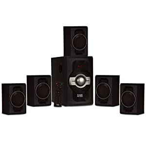 Acoustic Audio AA5240 Home Theater 5.1 Bluetooth Speaker System with USB and SD Inputs