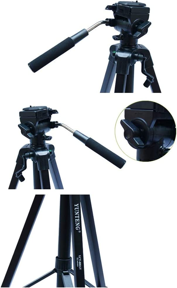 Jdeepued Tripod Portable Tripod Travel Tripod Outdoor Compact Aluminum Camera Tripod Monopod Suitable for Mobile Digital SLR Camera Travel Suitable for Getting Started