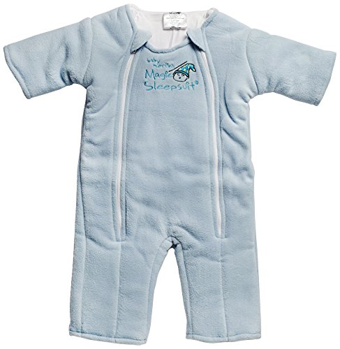 Baby Merlin's Magic Sleepsuit 6-9 months - Blue Large Baby Merlin Company