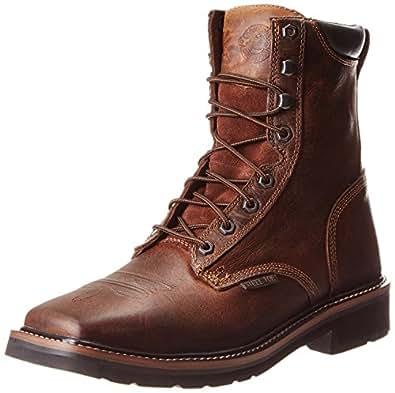 Justin Original Work Boots Men's Stampede Steel Toe Work Boot,Rugged Tan Steel Toe,8 D US