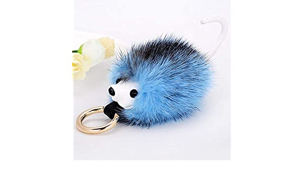 JINSH Coche Llavero Fino visón pequeño Hedgehog Moda Salvaje ...