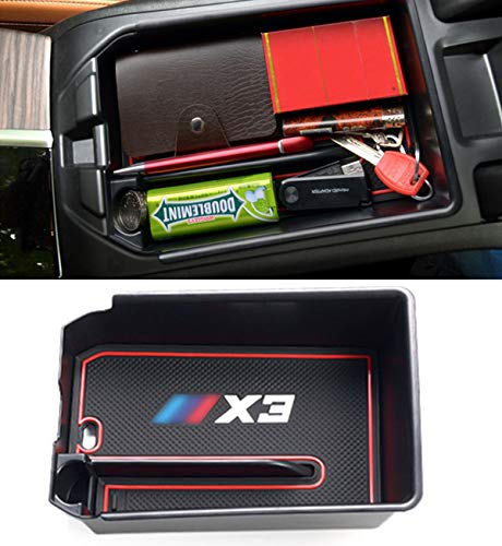 Jaronx Armrest Secondary Storage Box Compatible with BMW X3 2018 2019, Center Console Insert Organizer - Console Bmw