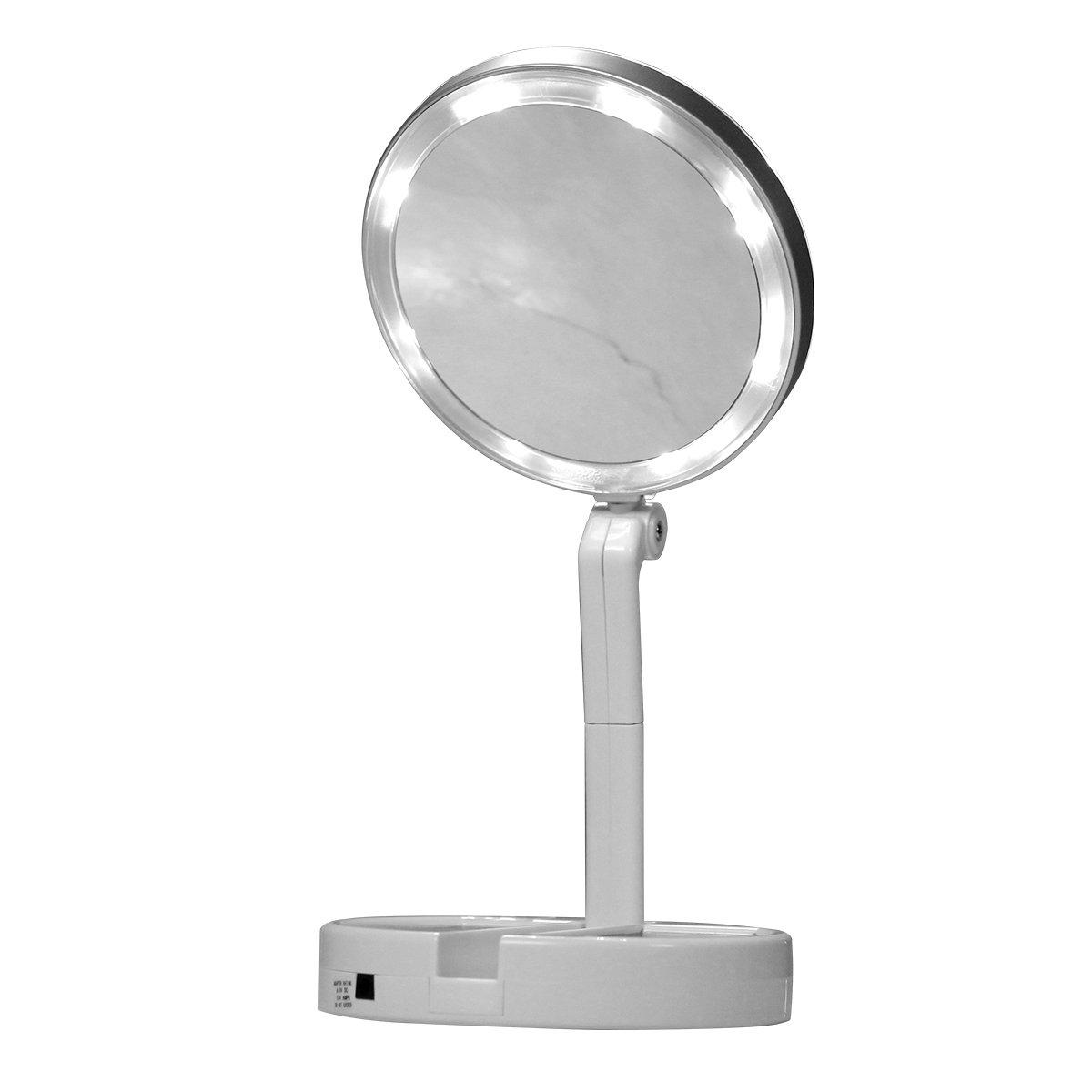 JML Flawless Folding Mirror - The take-anywhere LED magnifying mirror f0qff50100000001