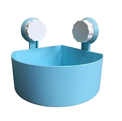 Estante del Almacenaje,Plástico succión taza baño cocina esquina  almacenamiento rack organizador ducha estante LMMVP 6cbb2a886378