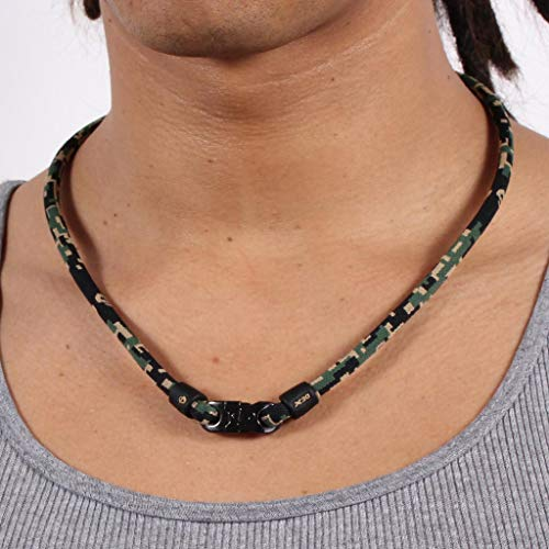 Magnetic Necklace Baseball - Phiten Digital Camo Titanium Necklace, Woodland, 18-Inch
