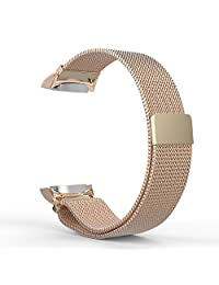 Gear S2 Watch Band, MoKo Milanese Loop Stainless Steel Mesh Bracelet Smart Watch Strap + Connector for Samsung Gear S2 SM-R720 & SM-R730 Smart Watch (Not Fit Gear S2 SM-R735), Rose GOLD