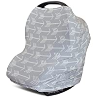 Stretchy Multi Use Carseat Canopy | Nursing Cover | Shopping Cart & High Chai...
