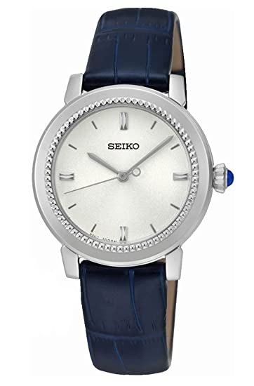 Seiko Reloj Analogico para Mujer de Cuarzo con Correa en Cuero SRZ451P1